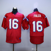 Wholesale quality 16 movies - Shane Falco Jersey #16 The Replacements Sentinels Movie Football Jerseys Mens Red Double Stitched Top Quality