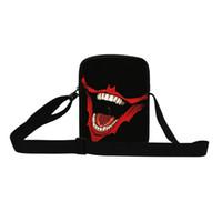 Wholesale mouse backpack - 2016 Cool 3D Skull Print Mini Messenger Bags Big Mouse School Bags For Boys Crossbody Bag Baby Schoolbag Kids Mochila Infantil