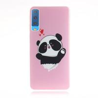 osos de samsung llevan al por mayor-Para Samsung Galaxy A7 2018 A730F cubierta de la caja de moda suave TPU + IMD Animal bear cat Squirrel patrón de flores cajas del teléfono móvil