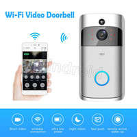Wholesale Security Box Camera Wifi - Cheap Smart Wireless Smart Video Doorbell 720P HD Wifi Security Camera Real Time Two Way Talk and Video APP Control + retail box DHL 20pcs