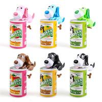 montessori hayvan oyuncağı toptan satış-Köpek Para Kutular Piggy Tasarruf Banka Yaratıcı Güzel Mini Yemek Hayvan Plastik Faiz Fikri Çocuk Çocuk Oyuncak 15xb V