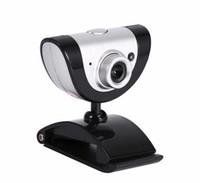 hd webcam mic al por mayor-Nuevo PC Video Record HD Cámara web con cámara de visión nocturna con micrófono para computadora Windows XP / win7 / win8 / Vista Laptop