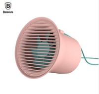 Wholesale air cooler stand - Baseus Protable USB Mini Air Cooling Fan Small Desktop Table Standing Fans for Office Homes Double Fan Structure Retail Package Aicoo