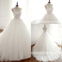 Wholesale Boat Chart - Real Robe De Mariage Wedding Dress 2018 Ball Gown Boat Neck Custom Made Vestidos De Novia Bridal Gown