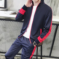 Wholesale teens suits - 2018 New spring Autumn Men Sporting Suit Men's Clothing Tracksuit teens Set 3XL hoodies+Pant Sweatsuit 2 Piece Sportswear