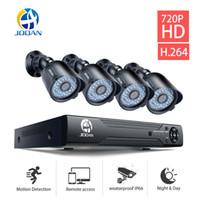 система 8ch cctv оптовых-JOOAN системы безопасности камеры ИК ночного видения 8CH DVR открытый камеры 1080N CCTV Vedio наблюдения комплект Beveiligings системы видеонаблюдения