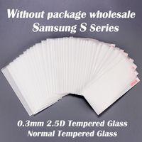 gehärtetes glas für s4 großhandel-0,3mm 2.5D Normal Gehärtetem Glas Displayschutzfolie für Samsung S serie S3 S4 S5 S6 S6 rand S7 S7 kante S8 S8 Plus S9 S9 plus S8 aktiv