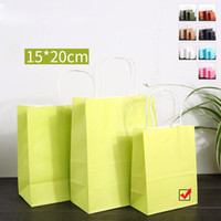 027bd464fd7 Green Kraft Paper Bags 3 Size Available Handles Mechandise Clothing Shoes Jewelry  Packaging Paper Bag Shopping Bags For Boutique