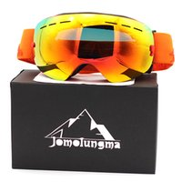Wholesale snow goggle brands resale online - Brand Jomolungma New SG Ski Goggles Big Spherical Double Layers Anti Fog HD Polarized Snow Snowboard Skiing Eyewears Outdoor Glasses SG00105