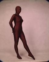 ingrosso abito spandex marrone-Vestito operato dal costume di Cosplay del formato adulto del vestito di Zentai del vestito pieno caldo di Brown / Lycra di Body Full