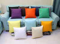 Wholesale Sofa Pillow Case Cover Pure Color Polyester White Pillow Cover Cushion Candy colored Pillowcase For Home Decor Gift CCP