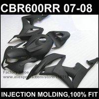 ingrosso corpo personalizzato cbr-Caldo! All black Injection body one per CBR 600 RR fairings 07 08 custom faCBR600RR 2007 2008