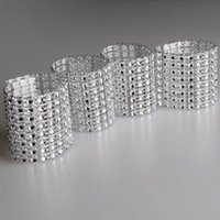 Wholesale gold sashes chairs - 2018 Cheap Wedding Chair Sashes Popular Silver Gold Crystal Clasps For Wedding Chair Sashes DIY Napkin Rings Crystal Buckles Bands