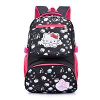 Nylon Hello Kitty bag cartoon primary Backpacks Children School Bags for  girls Backpack kids SchoolBag school Back pack mochila 98733c5133103
