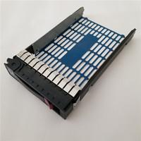 sunucu sabit disk toptan satış-3.5 inç sıcak swap sas SATA HDD Sabit Disk Tepsi Caddy için HP DL165G7 DL180G6 ML150 110 DL180G6 DL320G5 DL320G6 DL360G5 DL380G5 sunucu