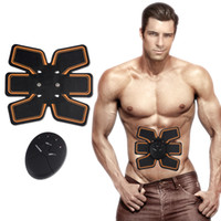 Wholesale Multifunctional Massager - 2018 New Smart EMS Wireless Electric Massager Abdominal Muscle Toner ABS Fit Muscle Stimulator Abdominal Muscles Trainer
