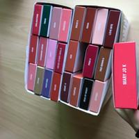 Wholesale stocking charm - 41colors Velvet Liquid lipstick & Lip Liner kit Velvet Lip Kits Charm Harmony Dazzle Roise apricot in stock