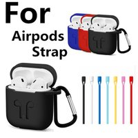 Wholesale Iphone Accessories Headphones - AirPods Strap For iPhone 7 7Plus Air Pods Wire Rope Connector Headphones Anti Lost Soft String Rope For Airpod Phone Accessories