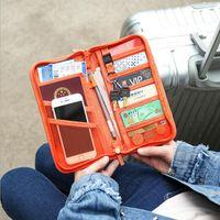 Wholesale travel passport money holder - Passport Cover Multifunction Wallet Credit Card Package Travel Women Business ID Card Holder Money Bag FFA005
