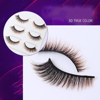 Wholesale brown lashes for sale - Group buy New Pairs Set Faux Mink Hair Colorful Eyelashes D Brown Gradient Color False Eyelash Extensions