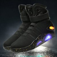 Wholesale air mags - Authorized AIR MAG Sneakers Marty McFly LED Mens Basketball Shoes World Debut Back To The Future Light Up Shoes Send With Box