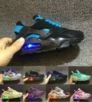 Wholesale baby tennis shoes for sale - Flash Light Air Huarache Kids Running Shoes Sneakers Infant Children Huaraches huraches Designer Hurache Casual Baby Boys Girls Sneakers
