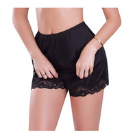 нейлоновый шнурок оптовых-Popular Fashion Causal Solid Comfortable NEW Women's Summer Nylon Sleepwear Slip Nightshort With Lace Trim M-XXXL