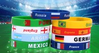 Wholesale discount bracelets online - 2018 Russia world cup souvenir gift Discount cheap football peripheral Silicone Bracelet Gift Bracelet Wristband Bracelet hand chain gifts