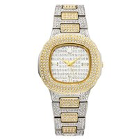 женские наручные часы оптовых-Марка Часы Кварцевые Дамы Золото Мода Наручные Часы Алмаз Из Нержавеющей Стали Женщины Наручные Часы Девушки Женские Часы Часы
