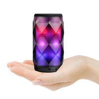 Wholesale mini mp3 player crystal online - Crystal Can Diamond Bluetooth Speaker Seven Color Change Portable Wireless Speaker For Outdoor Subwoofer Support TF Card Mic MIS181