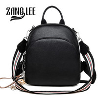 Wholesale cute college bag style resale online - ZANG LEE Soft PU Leather Korean Cute Small Black Backpack Purse Women Dual use College School Shoulder Bag with Strap