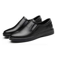 ingrosso mens comfort loafer-big size mens casual nero isolamento scarpe cuoco lavoro scarpa slip-on cow in pelle cucina cuoco vestito morbido comfort traspirante fannullone