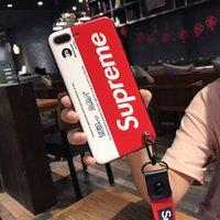 apfel iphone zum verkauf großhandel-Neuer Entwerfer-Telefon-Kasten für IPhone X 6 / 6S 6plus / 6S plus 7/8 7plus / 8plus Heißer Verkauf für Großhandelsart- und weisemarken-Buchstabe TPU 2 Farbe