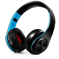 casque microphone sans fil pour pc achat en gros de-NDJU Sans Fil Basse Casque Bluetooth Sport Casque Casque Réglable Écouteurs Avec Microphone Pour PC téléphone mobile Mp3