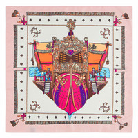 Wholesale shawls for sale - Group buy Women Square Silk Scarf Red Pirate Ship Print Shawls And Wraps Foulard Femme Joker Ladies Small Twill Scarves CM