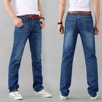 Wholesale Exclusive Jeans - NEW Jeans Exclusive Design Famous Casual Denim Jeans Men Straight Slim Middle Waist Men Vaqueros Hombre
