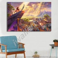 Wholesale cartoon thomas for sale - Group buy Thomas Kinkade Cartoon Lion King HD Painting Living Room Wall Art Canvas Poster Decorative Picture No Frame Home Decor