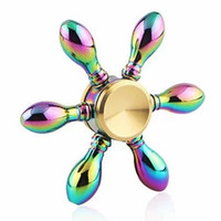 Wholesale Pure copper fingertip gyroscope Hand Spinner Fidget Rainbow Hand Spinner