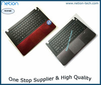 Wholesale P Test - Original For 5460 5470 5480 5439 keyboard with Palm rest touchpad P N:56M9X 056M9X Housing Red Silver test ok