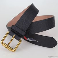 Discount boy bronze - 2017 new High quality double chain buckle true leather designer belts European style brand belt business casual men's waistbands with