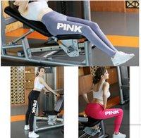 Wholesale Wholesale Printed Leggings - Women Pink Legging Women Love Pink Letter Print Workout Leggings Sporting Fitness Pants Workout Legging LJJK850