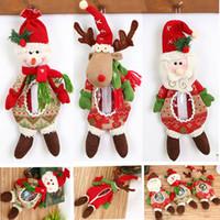 ingrosso giocattolo della peluche della mela-Nuovi Regali per bambole natalizie Babbo pupazzo di neve pupazzo di neve alci renne Bambola caramelle Borse di mele barattolo di natale giocattoli ornamenti decorazioni HH7-1559