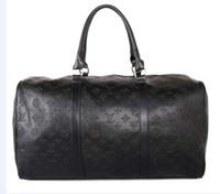 Wholesale leather travel bag online - Hot CM Luxury brand men women travel bag PU Leather duffle bag brand designer luggage handbags large capacity sports bag