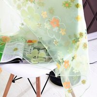 занавески для штор оптовых-Curtain Factory Price! Floral Print Sheer Curtain Panel Window Balcony Tulle Room Divider Scarf