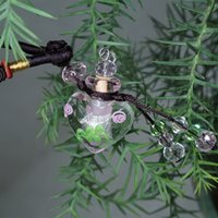 Wholesale Murano Glass Diffuser Essential Oil - high qualit murano lampwork glass pendant aromatherapy pendant necklaces jewelry perfume vial bottle pendant essential oil diffuser necklace