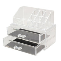 Wholesale acrylic make up storage resale online - Portable Transparent Makeup Organizer Storage Box Acrylic Make Up Organizer Cosmetic Makeup Storage Drawers Christmas