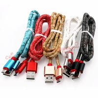 Wholesale usb printing cable - Fast Charger cable Leather Alloy With English Words Print 1m 3ft Micro 5pin usb data charging cable for samsung s6 s7 edge htc android phone
