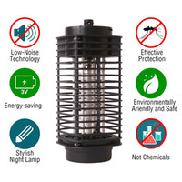 luz nocturna de mosquitos al por mayor-2018 nuevo Electronic Mosquito Killer Electronic Insect Killer Bug Zapper Trampa Fotocatalizador Fly Zapper UV Night Light Trap Lamp