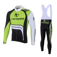 Wholesale merida green jersey resale online - New Team MERIDA Cycling Jersey Set Men s Long Sleeve MTB Sportwear Autumn quick dry Outdoor Mountain Bike clothing Y