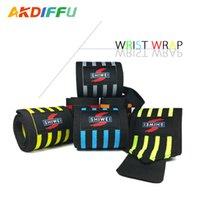 suporte de proteção venda por atacado-Esportes ao ar livre Nylon Wrap Bracket Four Stripe Proteção Stretch Wrist Fitness Halterofilismo Wrist Strap